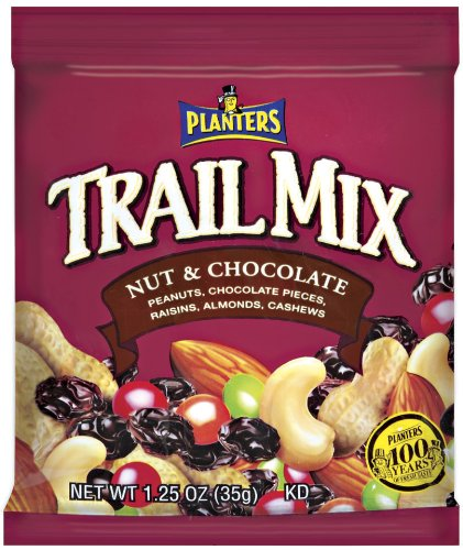 Planters Trail Mix, Nuts And Chocolate, 1.25-Ounce Packages (Pack of 42)