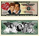 I Love Lucy - Lucille Ball - Million Dollar Bill With Bill Protector