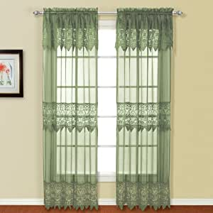 United Curtain Valerie Lace Sheer Window