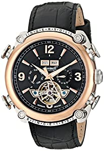 """Ingersoll Men's IN4505RBK """"Classic"""" Stainless Steel Automatic Watch with Black Faux Leather Band"""