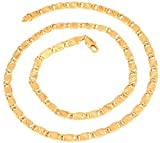 The jewelbox s gold plated etched links mariner omega chain for Men long 24