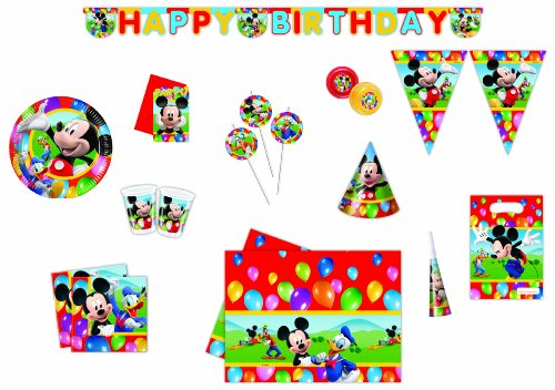 DISNEY - 9247 - Party Kit - Kit Mickey Party Time - Grö�e Xxl
