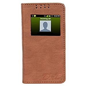 D.rD Flip Cover with screen Display Cut Outs designed for HTC Desire 526 G+