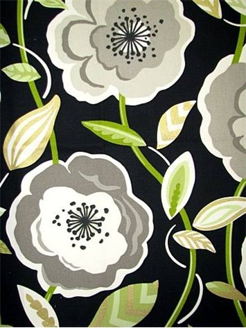 Shower Curtain Poppies Galore - Black Review