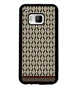PrintDhaba Pattern D-1638 Back Case Cover for HTC ONE M9S (Multi-Coloured)
