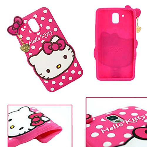 3D Hello Kitty With Pendant Silicon Back Cover For HTC Desire 526/526G Plus Cases