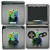 Retro N64 Nintendo 64 Logo Art Design Video Game Vinyl Decal Skin Sticker Cover for Nintendo GBA SP Gameboy Advance System