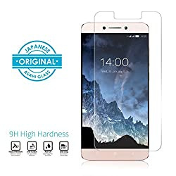 LeEco LeMax 2 Tempered Glass Mivi Military Grade Anti-Scratch (0.3mm, Clear)
