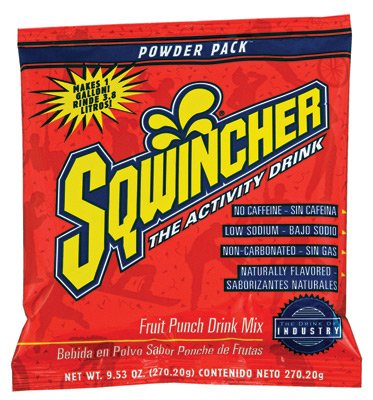 Sqwincher 016005-Fp 9.53 Oz Powder Concentrate Electrolyte Replacement Beverage Mix, 1 Gallon Yield, Fruit Punch Flavor (Case Of 80)