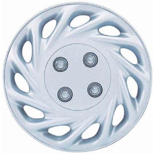 OxGord WCKT-858-13-SL Wheel Cover/Hub Cap, Silver/Lacquer, 13