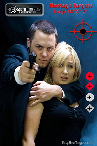"""50 Pack - 18"""" X 12"""" PHOTO-REALISTIC Hostage Targets for Shooting At The Lowest Price!"""