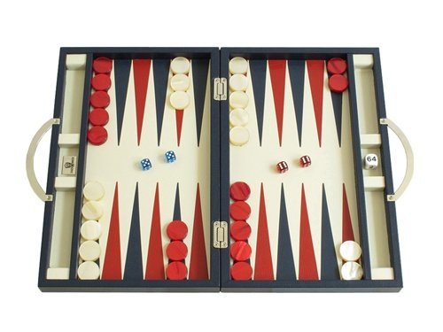 Case Blue Board Game : Zaza sacci leather backgammon board game set 15 luxury travel case