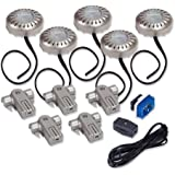 Amertac XPV50KCL 20-Watt Xenon Direct-It Accent Light Kit Pucks, Nickel, 5-Pack