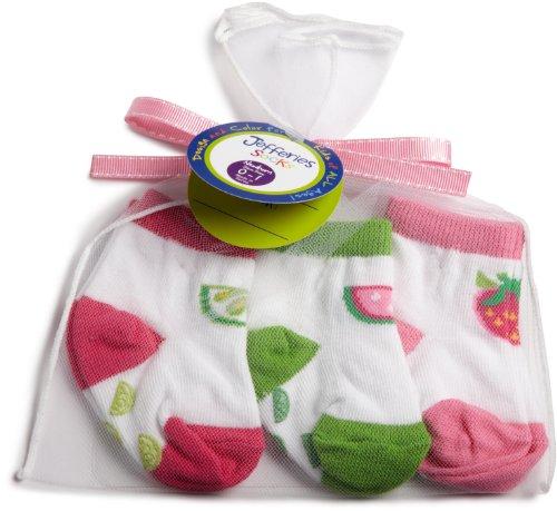 Jefferies Socks Girl's Tutti Fruitty Nonskid