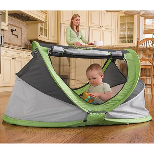 Peapod Plus Baby Travel Bed With Inflatable Air Mattress front-982199