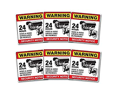 Weatherproof Video Surveillance Security Camera system Warning Alert Sticker Decals for Home or Business window door stickers. CCTV warning sticker or decal may be all you need.
