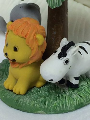 6 Jungle Safari Baby Animals Figurine Favor Favors Cake Top Gift Keepsake Box front-1056461