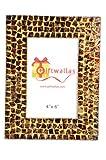 Giftwallas Wooden Photo Frame ( Gold, 10X15 cm )