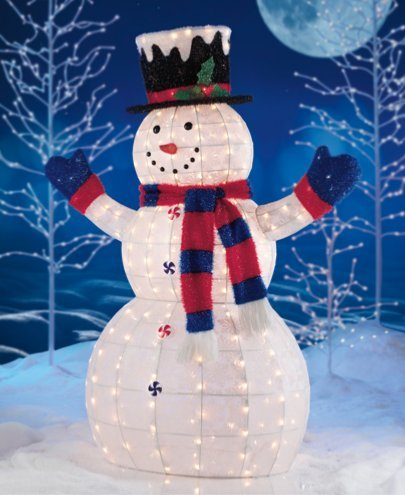 Christmas Snowman Decorations Light front-1064349