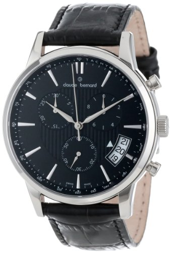 Claude Bernard Men's 01002 3 NIN Classic Round Stainless Steel Chronograph Date Watch