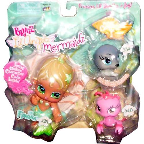 Amazon.com: Bratz Lil' Angelz Mermaidz ~ Fianna with Seal and Lobster