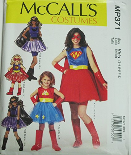 Mccall's Custumes Size 3 - 8 #Mp371