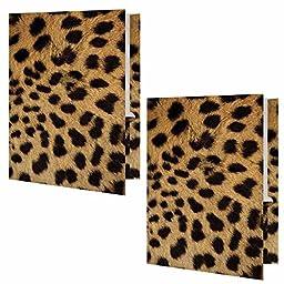 Cheetah Animal Print Presentation File Folder - Set of Two