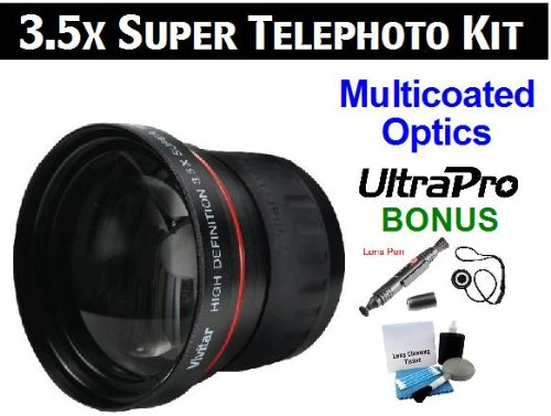 Ultrapro 3.5X Digital Pro Telephoto Lens Bundle For The Canon Powershot S2 Is, S3 Is, S5 Is Digital Cameras. Includes 3.5X Super Telephoto High Definition Lens, Lens Pen Cleaner, Cap Keeper, Ultrapro Deluxe Cleaning Kit