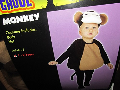 Halloween Dress Up Toddler Infant Monkey Costume Size 1-2 Years