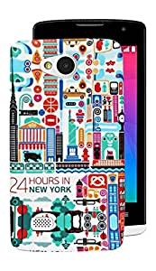 ECellStreet Exclusive Limited Edition Night Glow Super Radium Soft Back Case Cover Back Cover For LG Joy H220 - Colourful
