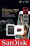 64GB SanDisk サンディスク Extreme Pro microSDXCカード UHS-I U3 V30対応 633倍速 R:95MB/s 海外リテール SDSQXXG-064G-GN6MA