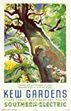 Large Southern Electric Vintage Railway Poster to Kew Gardens.