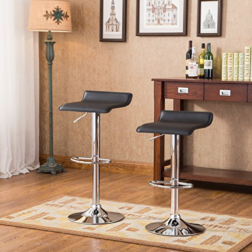 roundhill-furniture-contemporary-chrome-air-lift-adjustable-swivel-stools-with-black-seat-set-of-2