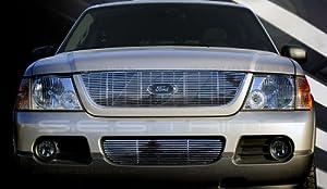 SES Trims Chrome Billet Upper Lower Grille Combo 02-05 Ford Explorer