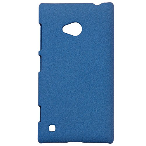Heartly QuickSand Matte Finish Hybrid Flip Thin Hard Bumper Back Case Cover For Nokia Lumia 720 - Mobile Blue