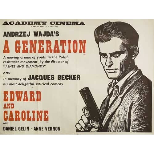 GENERATION 1970's Original British Quad Movie Poster Andrzej Wajda