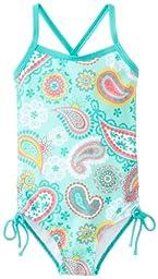 Kanu Surf Baby Girls\' Secret Garden 1 Piece Swimsuit, Ice Green, 24 Months