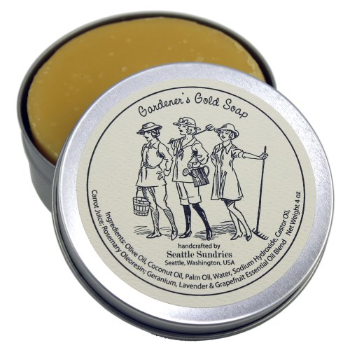 Gardener's Gold Soap in Reusable Travel Gift Tin