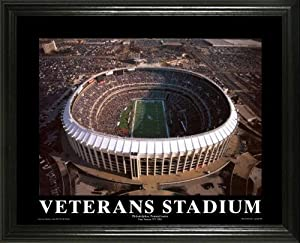 Philadelphia Eagles - Veterans Stadium Aerial - Lg - Framed Poster Print by Laminated Visuals