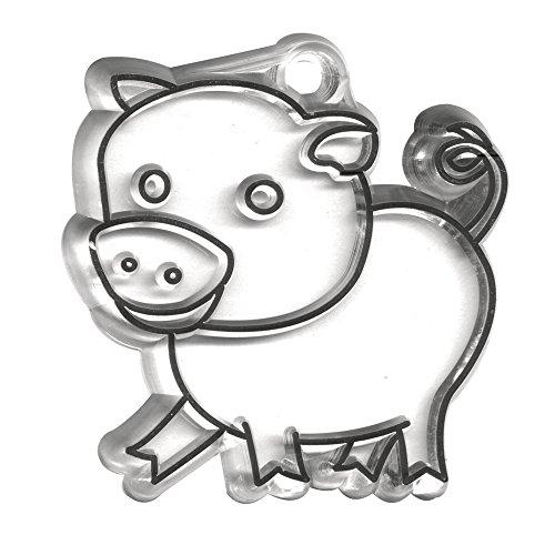 RAYHER - 3952500 - Acrylanhänger, Schwein, 5,5x5,5 cm