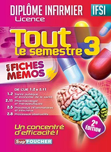 Tout le semestre 3 en fiches mémos - DEI - 2e édition : Diplômes d'Etat infirmier