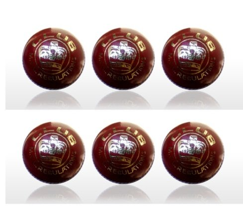 6x Junior Cricket Ball School Club Cricket Ball 4.75 oz