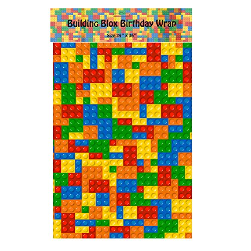 Building Blox Wrapping Paper - 24 Inch X 36 Inch - 1