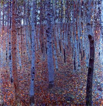 12X12 inch Gustav Klimt Abstract Canvas Art Repro Beeche forest