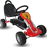 Kiddo 2016 Classic Design Red Kids Childrens Pedal Go-Kart Ride-On Car - Suitable For 3 to 6 Years - New