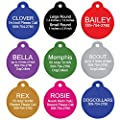 Pet ID Tags - Bone, Round, Heart, Paw, Mouse, and Rectangle. Front and Back Engraving. Various Colors and Sizes. For Dogs and Cats. Anodized Aluminum.