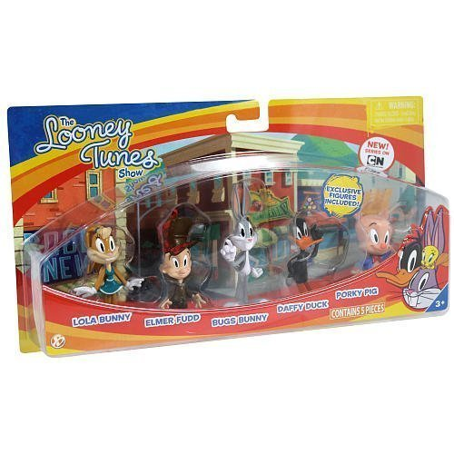 looney-tunes-figure-5-pack-bugs-bunny-lola-bunny-daffy-duck-porky-pig-and-elmer-fudd-by-the-bridge-d