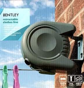 bentley fil 224 linge avec enrouleur mural 15 m fr jardin
