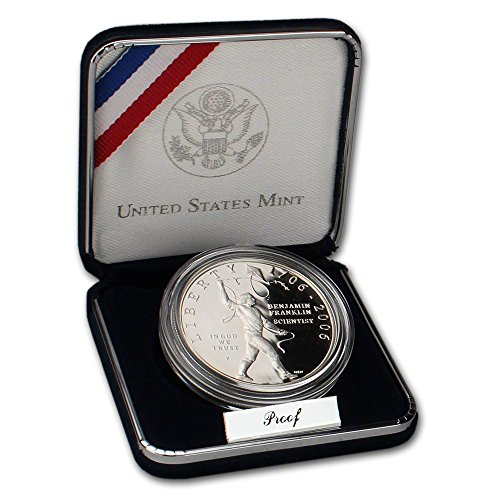 2006 P US Benjamin Franklin Scientist Commemorative Proof Silver $1 US Mint OGP