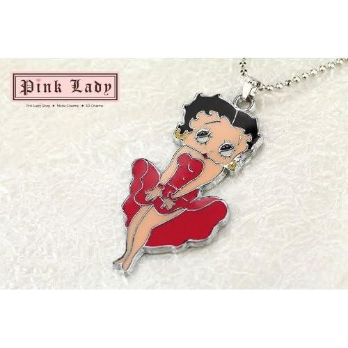 Betty Boop (Striking Classic Marilyn Monroe Pose) Red Dress Pendant